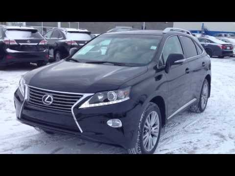 2014 Black Lexus RX 350 AWD Technology Package Review Alberta