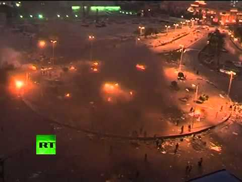 ▶ Cairo clashes video  Egypt riot cops fire tear gas, rubber bullets   YouTube 360p