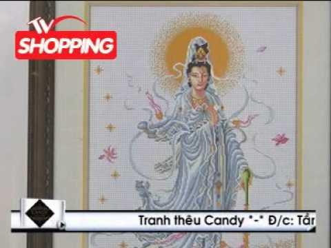 Candy trên kênh TVShopping - tranh thêu chữ thập Candy