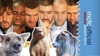 Players   Watch Funny Animal Videos on YouTube | Man City Advent Calendar 2014 | Day Ten