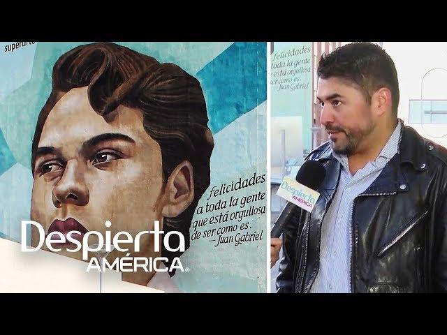 Autor del mural de Juan Gabriel revela peticiones del 'Divo de Juárez'