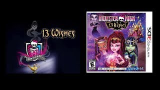 Monster High 13 Wishes Video Game For Nintendo 3DS