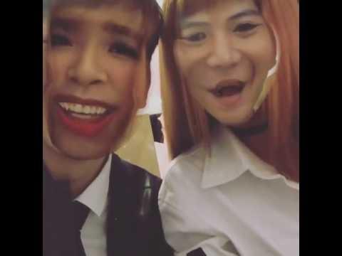 Khởi My và Kelvin Khánh tráo đổi khuôn mặt (Instagram)