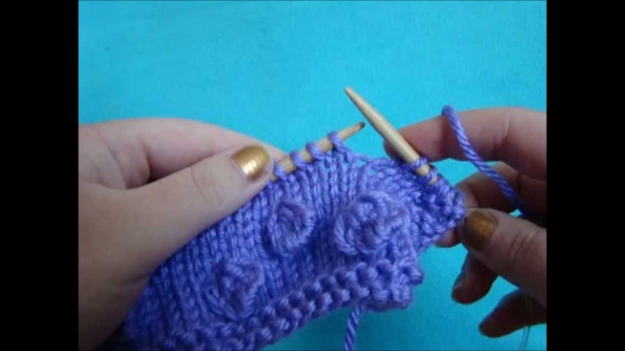 Knitting Stitches Bobbles : Knitting How To: Making Bobbles - YouTube