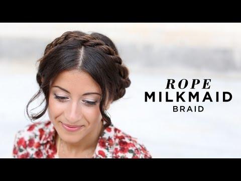 Rope Milkmaid Braid Hairstyle