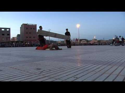 إستعراض متميز  للبطل محمد خليل بمدينة زاكورة