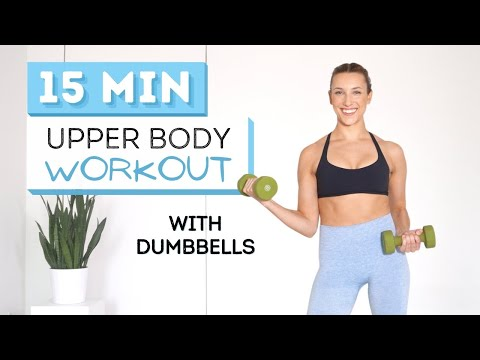 15 min UPPER BODY WORKOUT   With Dumbbells   For Toned Arms