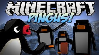 Minecraft | PINGUS! (Penguins that Mine, Build & EXPLODE!) | Mod Showcase [1.6.2]