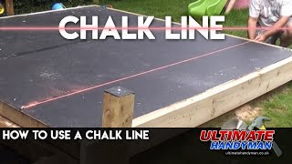 Using a chalk line