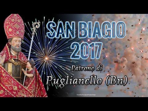 PUGLIANELLO (Bn) - San Biagio 2017 - Pirotecnica PANNELLA (Notturno)