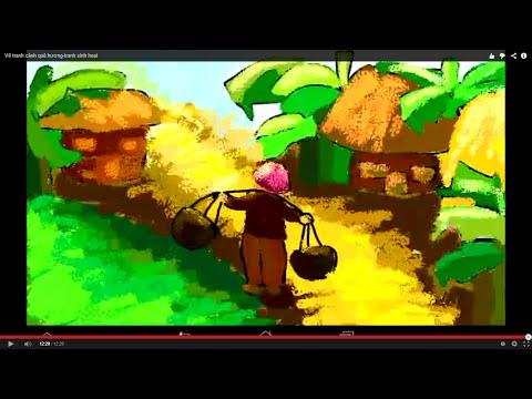 Tranh phong cảnh_ Vẽ tranh cảnh quê hương_colorful Landscape Painting_VietNam Landscape Painting