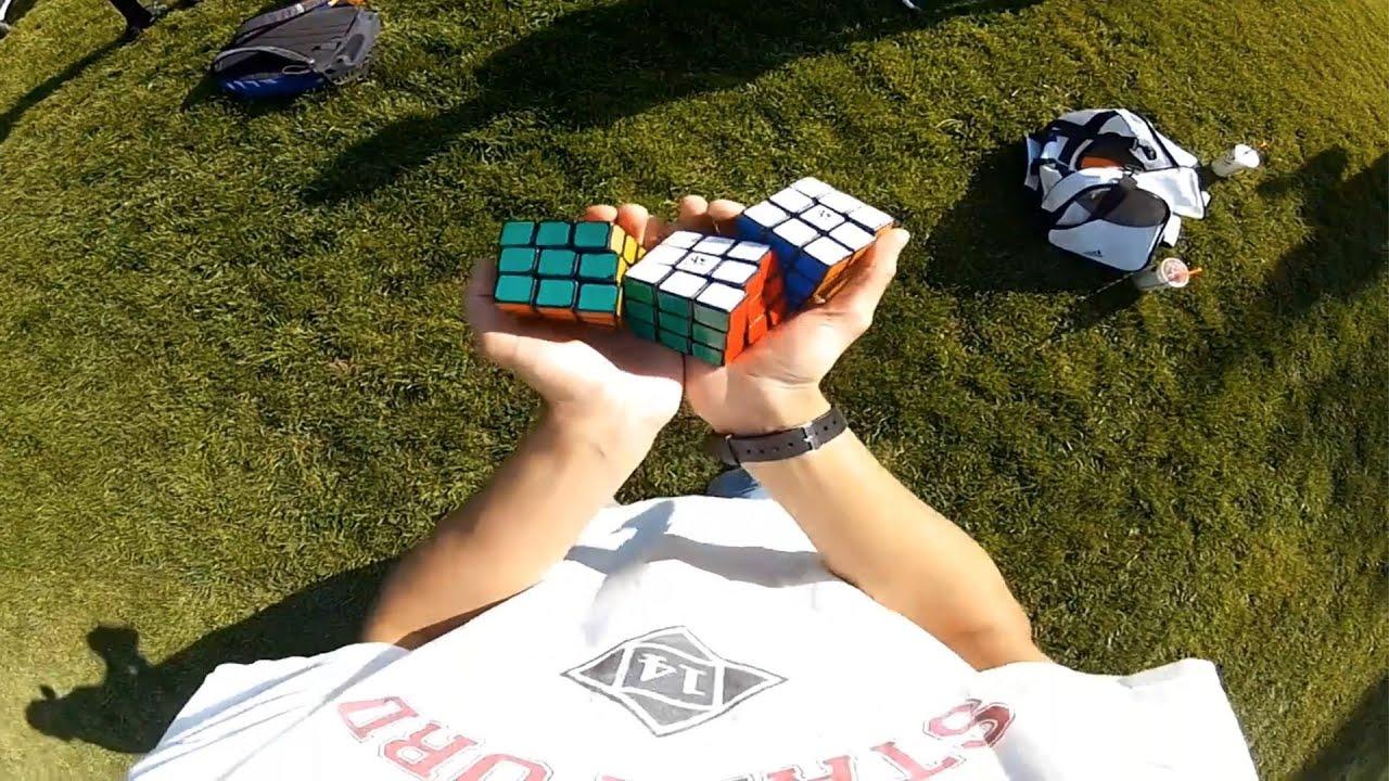 Il jongle et résout des Rubik's cubes