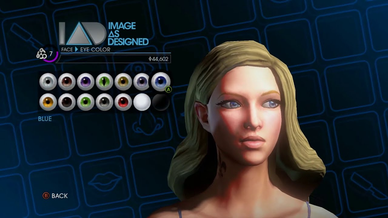 Saints Row 4 Anime Characters : Saints row female beauty face customization attributes