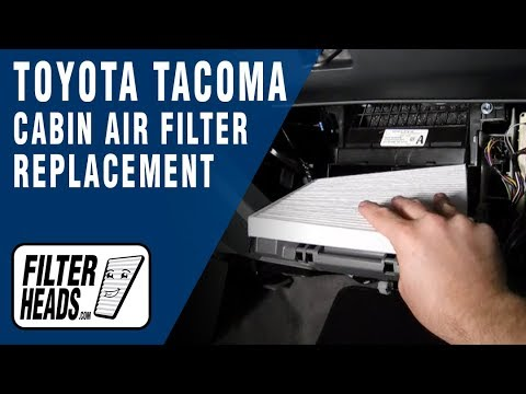 Cabin Air Filter Replacement Toyota Tacoma Youtube