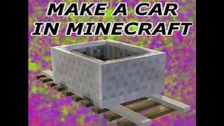 Minecraft : How To Make A Car (no Mod)