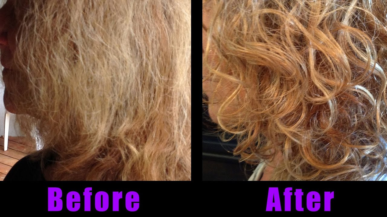 Curly Hair - How to Style - Before and After with Aveda and Remington