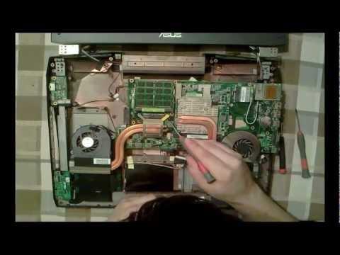 Asus G73JH disassembly repasting CPU & GPU 1080p