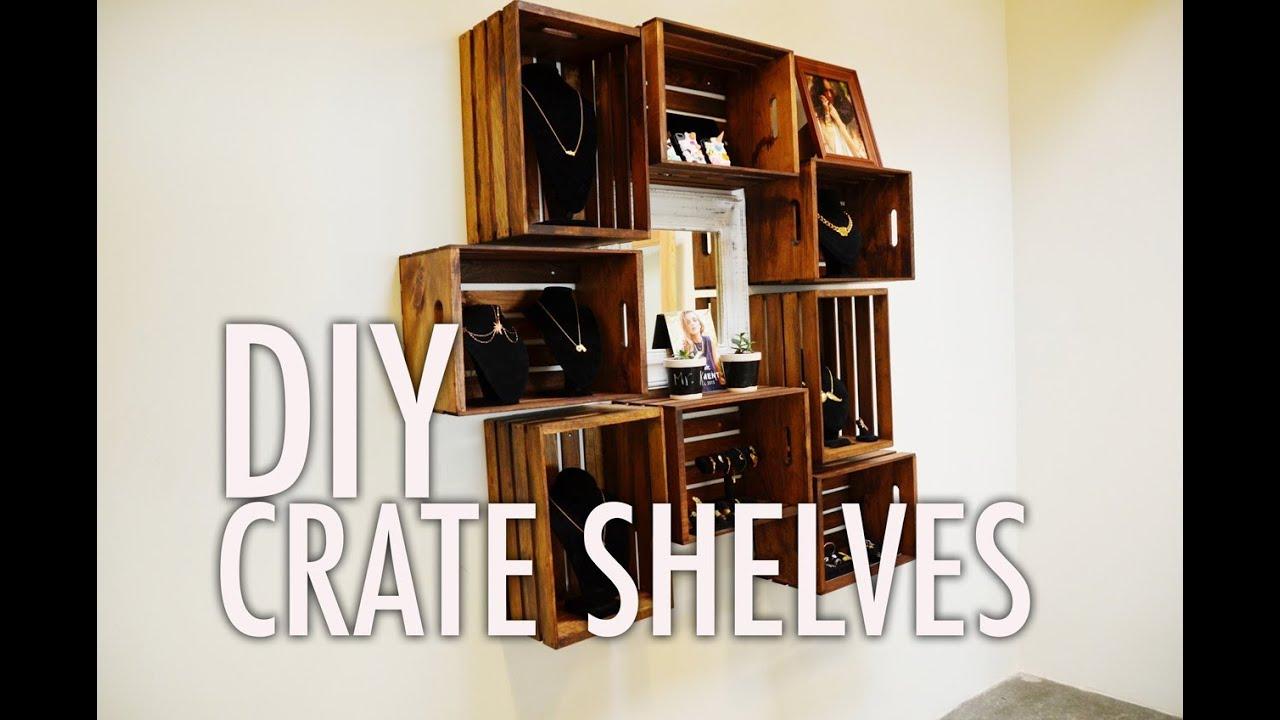 DIY Wood Crate Shelves 1280 x 848