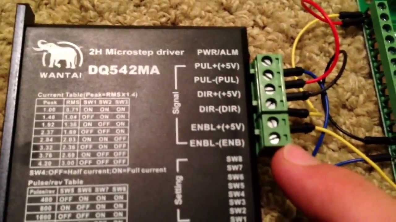 How To Db25 1205 Bob Breakout Board And Dq542ma Driver Cnc