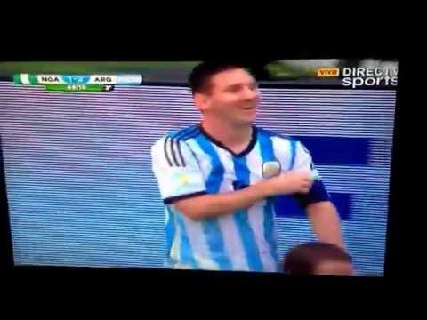 Gol de Messi Argentina 3- Nigeria 2. Relato Pablo Giralt.