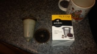 Keurig K-cup Reusable Filter REVIEW! Cheap Keurig Coffee