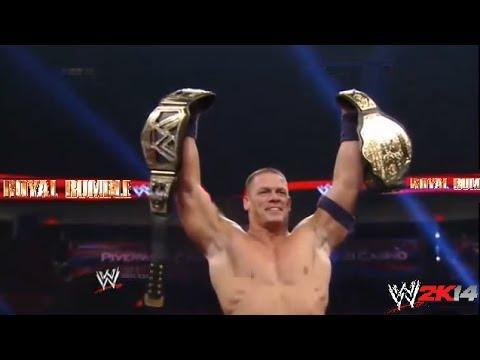 WWE ROYAL RUMBLE 2014 WWE World Heavyweight Championship JOHN CENA vs RANDY ORTON (Match Simulation)