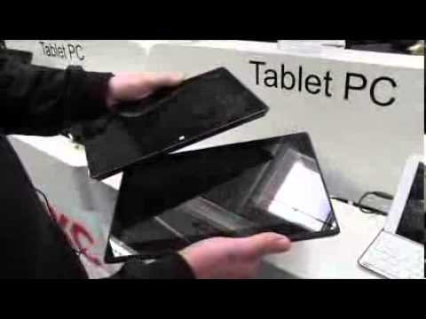 Microsoft Surface Pro vs HKC Surface Clone Tablet hands on at CeBIT ...
