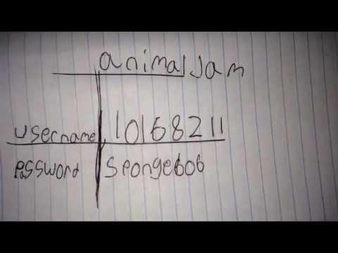 Animal jam password and username 2015