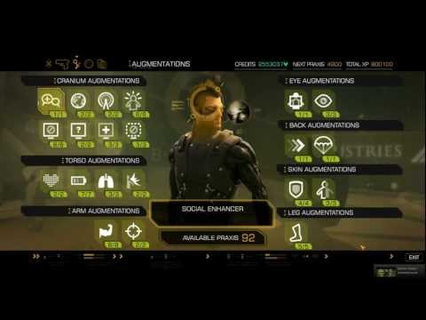 Deus Ex Human Revolution cheats. 150+ Praxis points &amp; 2Million Credits  [HD]