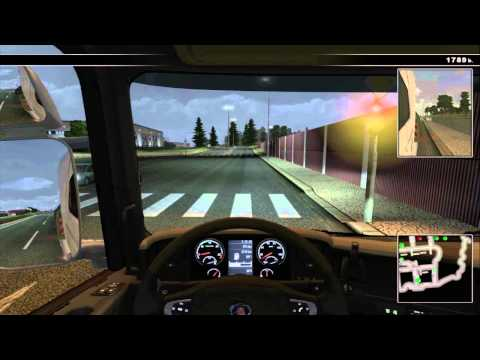 Scania Truck Driving Simulator - Freeform Driving, South EUROBUILD to North GOD GOODS