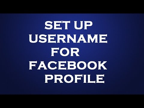 How to set username for facebook profile