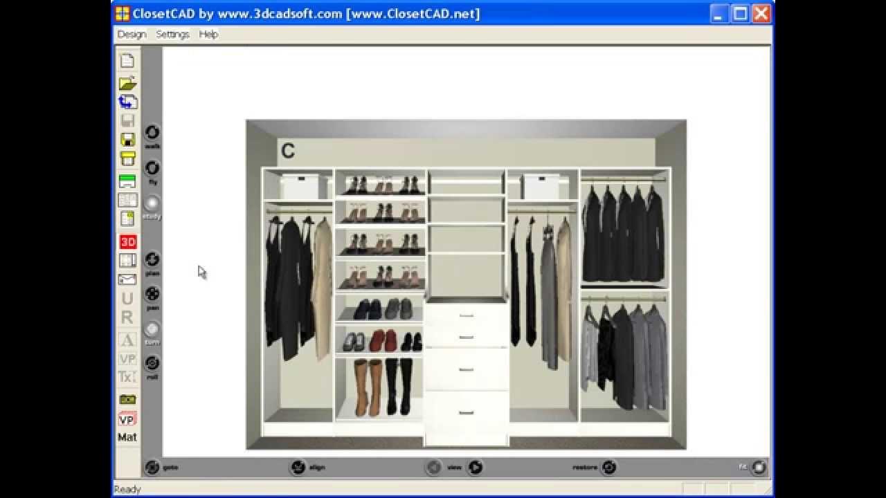 reach in closet design youtube