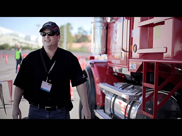 Truck Drivers Test the Detroit DD13  at World of Concrete 2012 w/ Western Star Trucks