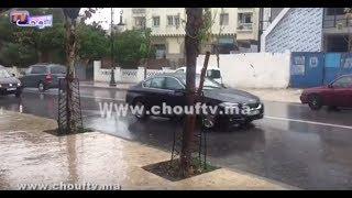 بالفيديو.. أولى التساقطات المطرية بطنجة |