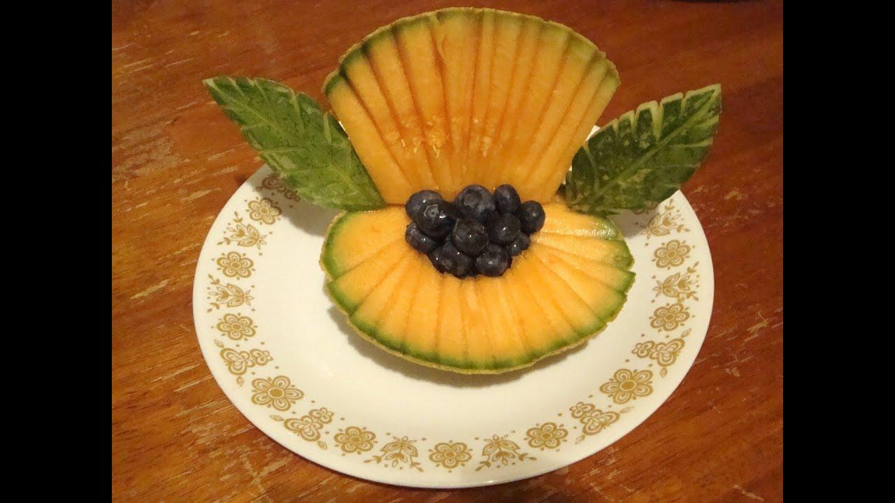 Concha de mar con un mel n decoraciones con fruta la - Decoracion de frutas ...