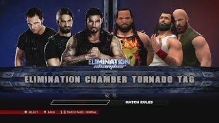 The Shield Vs. The Wyatt Family In An Elimination Chamber