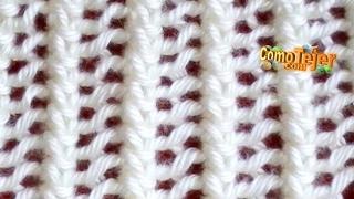 Cómo Tejer Encaje Tejido-Lace Stitch 2 Agujas (18)