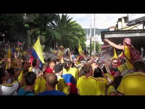 Colombia World Cup Celebrations, Parque Lleras, Medellin, Colombia v Japan 6-24-14
