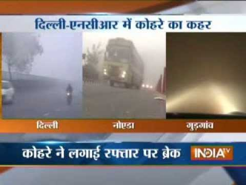 Heavy fog in Delhi-NCR, disrupts flight and train operations