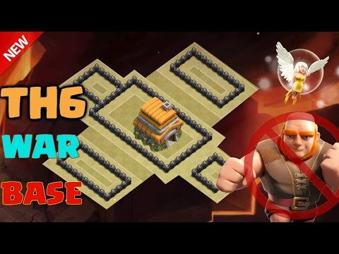 Clash of Clans - Town Hall 6 (TH6) War Base 2016 ♦ Anti Giant + Healer