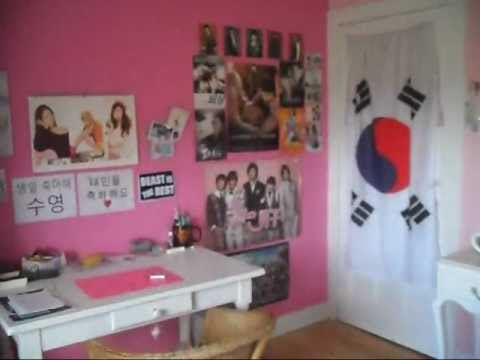 French KPOP Fan SONE CD/Poster room tour ~ (SNSD fan) { UPDATE APRIL ...