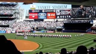 2012 Yankees Opening Day Lineup and National Anthem @ Yankee Stadium