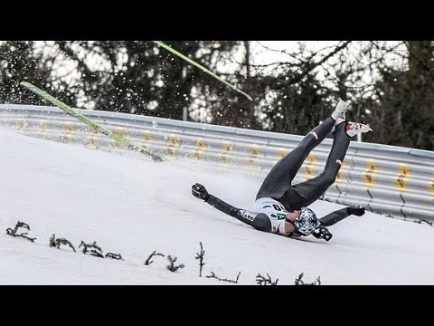 Thomas Morgenstern HUGE CRASH / ACCIDENT - Near DEATH FALL!!! [HD]