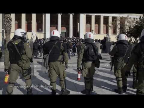 Police break up students protest in memory of Alexis Grigoropoulos