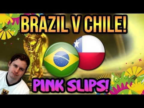 BRAZIL V CHILE WORLD CUP PINK SLIPS | FIFA 14 ULTIMATE TEAM