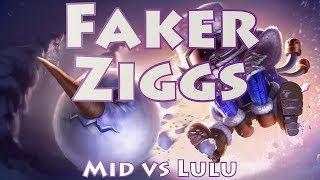 SKT T1 Faker Ziggs, Mid Vs Lulu