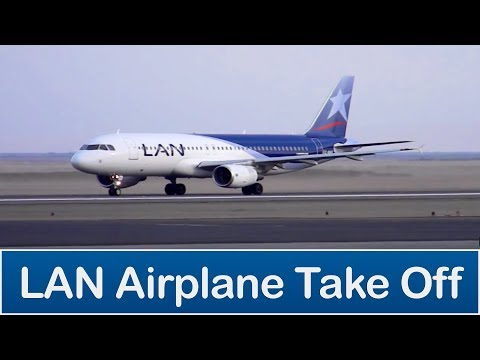 Avion LAN despegando (LAN airplane taking off)