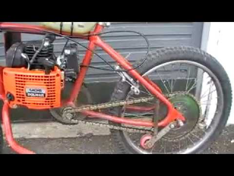 Homemade Chainsaw Bike ( Not Friction)