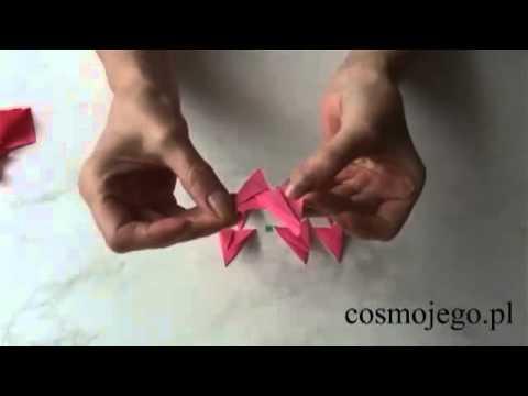 Gwiazdka choinkowa z papieru - origami - ozdoby świąteczne