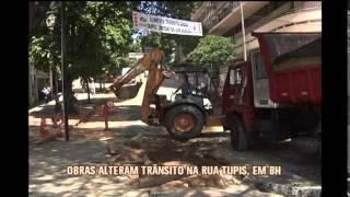Acesso � Rua Tupis � fechado para obras da Copasa no Centro de BH